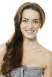 Woman with long brown hair Royalty Free Stock Image