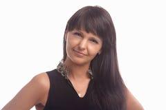 Woman With Long Brown Hair Posing Stock Photos