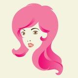 Woman Long Curly Hair. Royalty Free Stock Photo