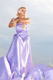 Woman in  long dress Royalty Free Stock Images