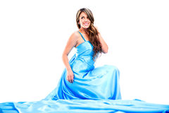 Woman in a long dress Royalty Free Stock Photos