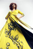 Woman in long dress Royalty Free Stock Photos