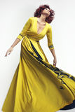 Woman in long dress Royalty Free Stock Photo