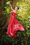 Woman in a long dress Stock Photos