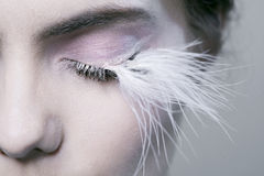 Woman with long eyelashes Royalty Free Stock Photography