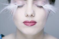 Woman with long eyelashes Stock Photo