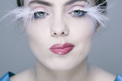 Woman with long eyelashes Royalty Free Stock Photo