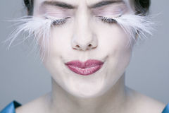 Woman with long eyelashes Royalty Free Stock Image