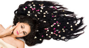 Woman with long hair Royalty Free Stock Photos