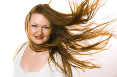 The woman with long hair Royalty Free Stock Photography