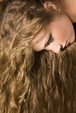 Woman with long hair royalty free stock images