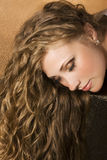Woman with long hair Royalty Free Stock Photography