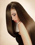 Woman with Long Hair. High quality image. Royalty Free Stock Photography