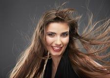 Woman long hair portrait Stock Photo
