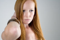 Woman with long red hair Royalty Free Stock Photo