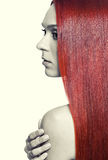 Woman with long red hair Royalty Free Stock Images