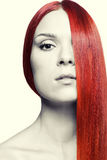 Woman with long red hair Royalty Free Stock Image
