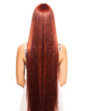 Woman with long red hair Stock Photos