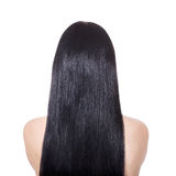Woman with  long straight brown hair Stock Photography