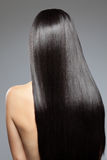 Woman with long straight shiny hair. Woman with long straight shiny luxurious hair Stock Photography