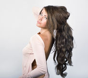Woman with long wavy hair. Stock Photography