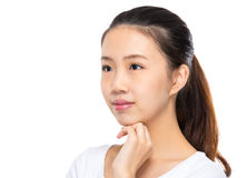 Woman look at other side Royalty Free Stock Images