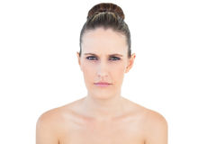 Woman looking angry at camera Royalty Free Stock Photos