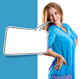 Woman Looking on Camera Royalty Free Stock Image