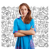 Woman Looking For Christmas Gifts Royalty Free Stock Photo