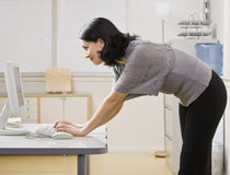 Woman Looking at Computer Stock Images