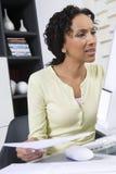 Woman Looking At Computer Screen Stock Photos