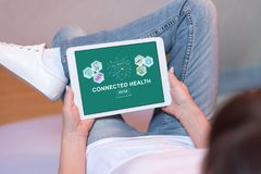 Connected health concept on a tablet Stock Images