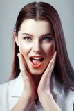 Woman looking excited Stock Photography
