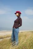 Woman looking forward Royalty Free Stock Image