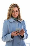 woman looking at her phone Stock Photography