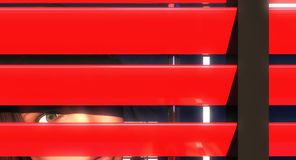 Red blinds Royalty Free Stock Image