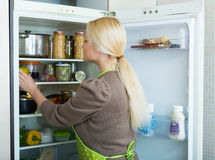 Woman looking in refrigerator Royalty Free Stock Photo