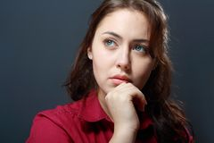 Woman looking sad Stock Photography