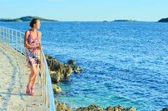 Woman looking sea Royalty Free Stock Photo