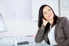 Woman looking at something Royalty Free Stock Photography