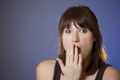 Woman looking surprised Royalty Free Stock Photo