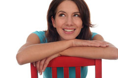 Woman looking up royalty free stock image
