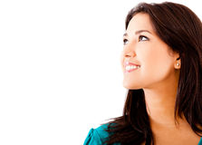 Woman looking up Stock Image