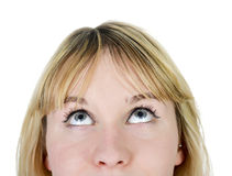 Woman looking up Royalty Free Stock Photography