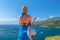 Woman looking viewpoint Royalty Free Stock Photos