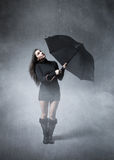 Woman looking for weather changement Royalty Free Stock Image
