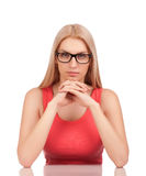 Woman looking at you Stock Photography