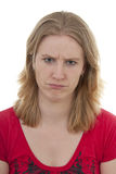 Woman looks angry Stock Photography