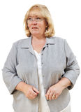 Woman looks through glasses Stock Photography
