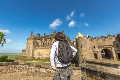 Woman looks the Stirling Castle Royalty Free Stock Photos